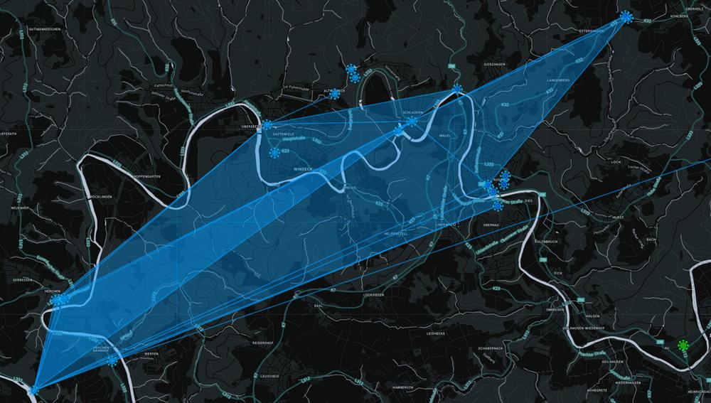 Derzeit wird Windeck durch den Widerstand (blaues Team) dominiert.