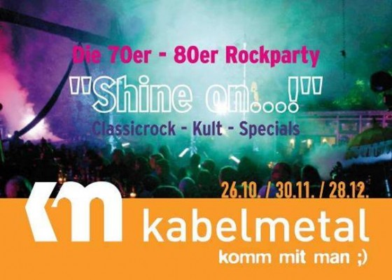 Shine On Flyer 70er 80er Rock Party
