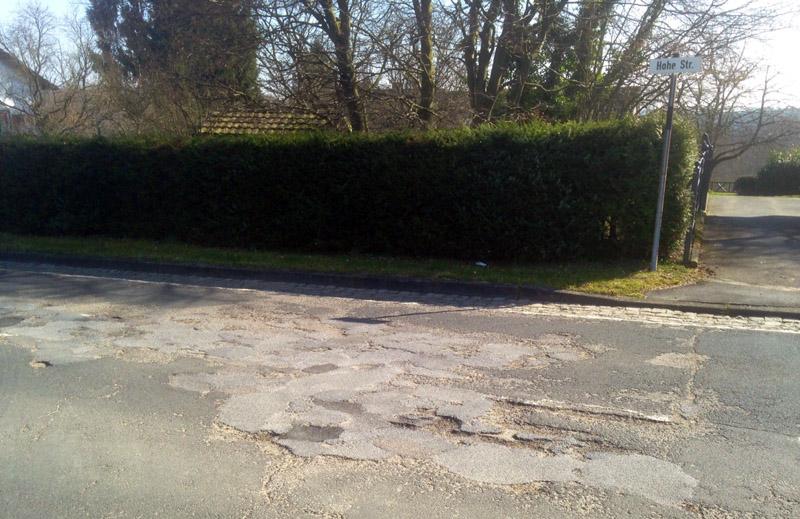 Straße in Hurst