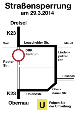 Umleitung DRK 29.03.14