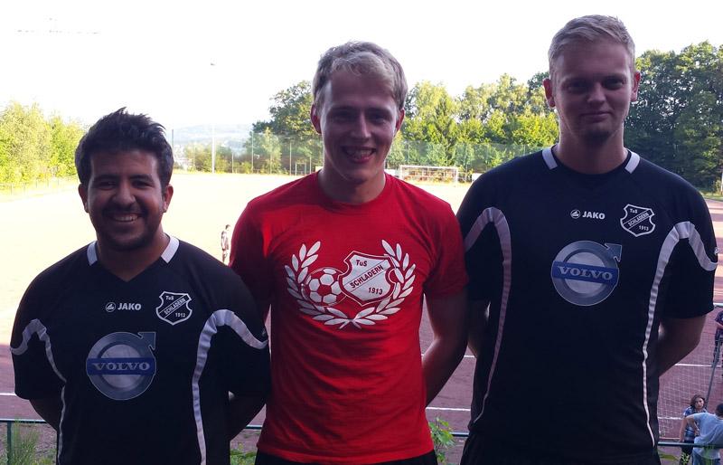 Das Trainerteam Samir Mekaoui, Robert Moh und Arthur Steinhauer