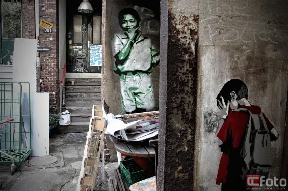 Straßenkunst Streetart  Graffiti