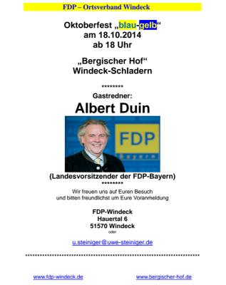 Oktoberfest FDP-Windeck
