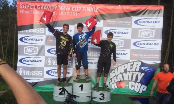 Nino Zimmermann U17-Siegerehrung Super-Gravity-NRW-Cup 2014