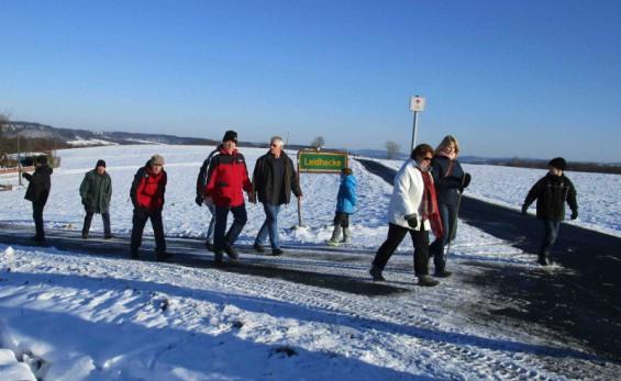 Winterwanderung SG Niederhausen Aufstieg Leidhecke 2