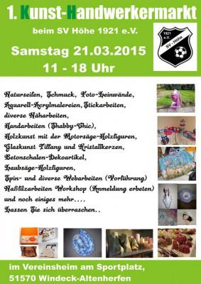 Kunst und Handwerkermarkt 03 2015