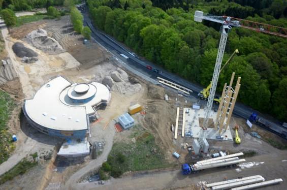 Baufortschritt im Mai 2015 - Bild: Panarbora