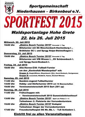 Sportfest SG Niederhausen 2015