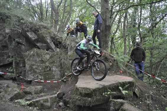 Pepe Rahl beim Trail im Steinbruch in Gedern