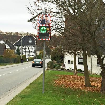 Smileys sensibilisieren erfolgreich, wie hier im benachbarten Etzbach