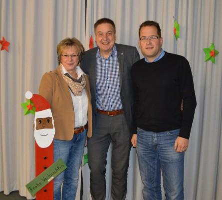 2. stellvertretende Bürgermeisterin Ulrike Kachel, Bürgermeister Hans-Christian Lehmann und 1. Stellvertretender Bürgermeister Daniel Stenger (v.l.n.r.)