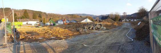 Errichtung Fachmarktzentrum am Aldi in Rosbach