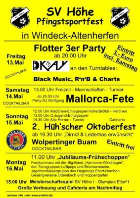 Jubiläumssportfest SV Höhe 2016