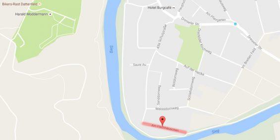 """Sanierung """"Am Fischhäuschen"""" - Bild: Google Maps"""
