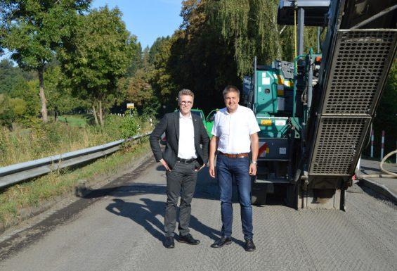 MdL Dirk Schlömer und Bürgermeister Hans-Christian Lehmann